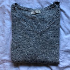 Grey V-Neck Hollister Sweater